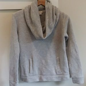J. Crew gray part wool cowl neck sweater